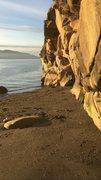 Rock Climbing Photo: Clayton Beach Fun little face climb I tried as a d...