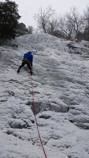"Rock Climbing Photo: Tristan Napotnik on the FA of ""Elk Flux""..."