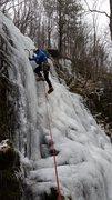 Rock Climbing Photo: Tristan Napotnik on FA of Cedar Falls (lower falls...