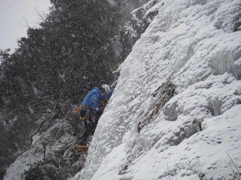 """Rock Climbing Photo: Tristan Napotnik on FA of Cedar Falls via """"El..."""