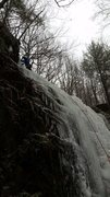 Rock Climbing Photo: Tristan Napotnik leading the lower fall