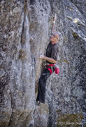Rock Climbing Photo: Sending Sinopia, 13a, on my 56th birthday.  © Pho...