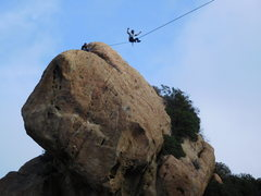 Rock Climbing Photo: Highliner's playing high above the Corpse Wall...