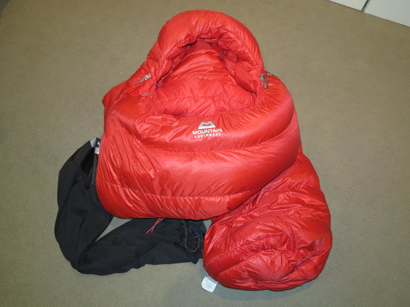 Mountain Equipment Xero 550 800+ fill 15 degree Fits to 6' Down Bag Brand New $275