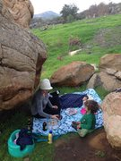 Rock Climbing Photo: Family picnic in the boulders makes me happy!! :)