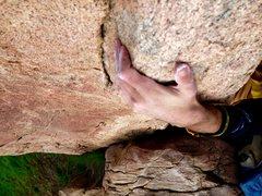 Rock Climbing Photo: Super Side Pull!!
