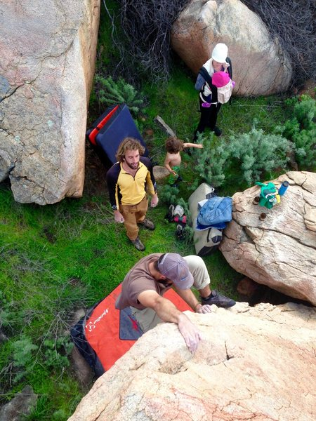 Rock Climbing Photo: Family time boulder sessions!!!