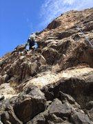 Rock Climbing Photo: At work.