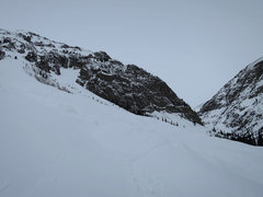 Rock Climbing Photo: The Calling center gully as seen from the parking ...