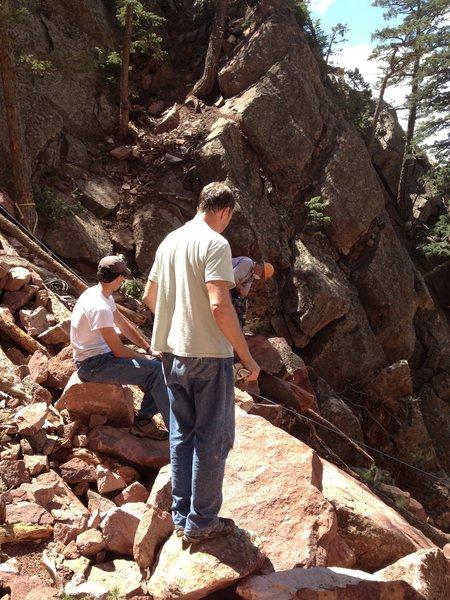 Rock Climbing Photo: Still at it....