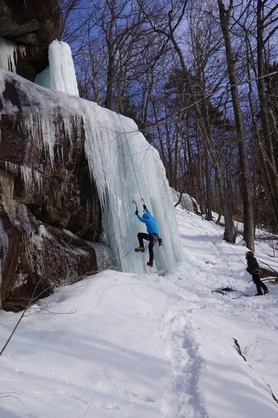 Matthias working his way up this flow