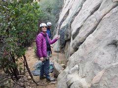 Rock Climbing Photo: Enjoying the day at Saddle Peak.