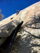 Rock Climbing Photo: Shining path Richard Shore enjoying some winter sh...