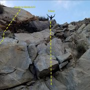 Rock Climbing Photo: Easy topout for mom to see.