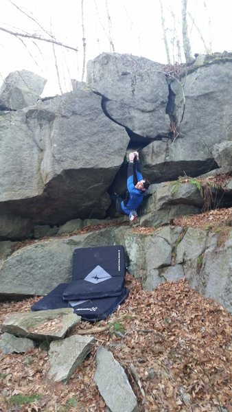 Rock Climbing Photo: Here is Ben after making the first move out of the...
