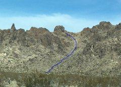 Rock Climbing Photo: trail to Sawtooth Saddle Tower
