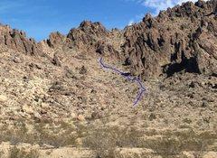 Rock Climbing Photo: trail to Slash X
