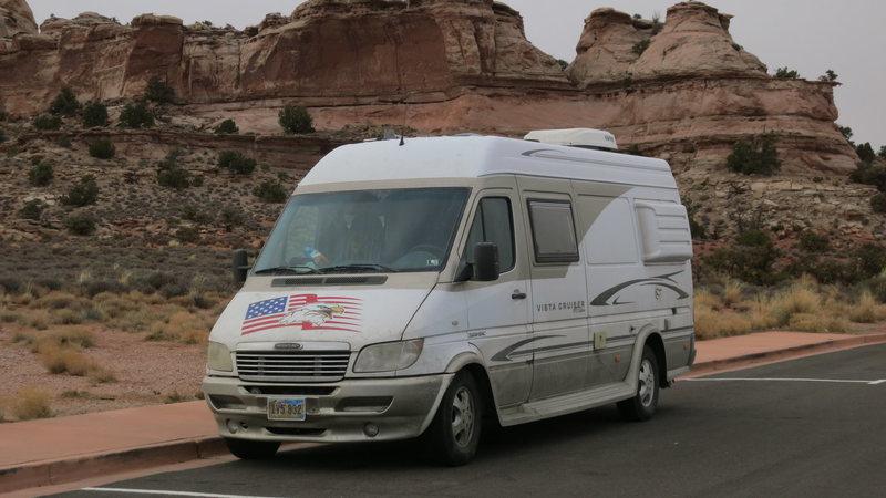 Van in Canyonlands, UT.