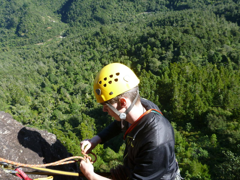 Rock Climbing Photo: Top of first pitch of a climb at Maratoto