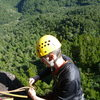 Top of first pitch of a climb at Maratoto