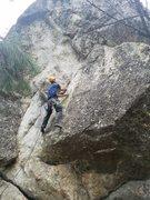 Rock Climbing Photo: Kevin Driscoll on Bolt-Gun, 11b.