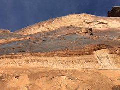 Rock Climbing Photo: Looking up from the top of the first pitch (I assu...