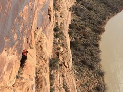Rock Climbing Photo: Sawyer squeezing through the a section on the seco...