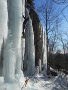 Rock Climbing Photo: The ice was solid. Jan. 2017