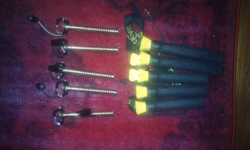 Grivel 360 Screws, panpipe sold.