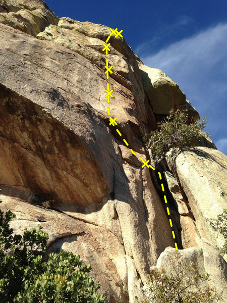 Rock Climbing Photo: A view of the full route