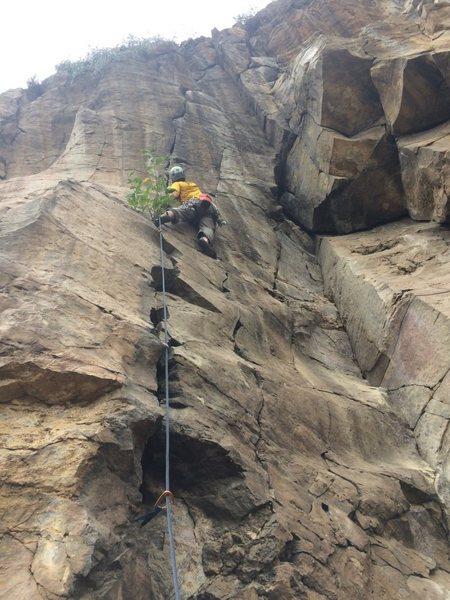 Rock Climbing Photo: Probably more like 5.11a