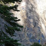 Rock Climbing Photo: Mike Arechiga on a fun route at 557 Dome.