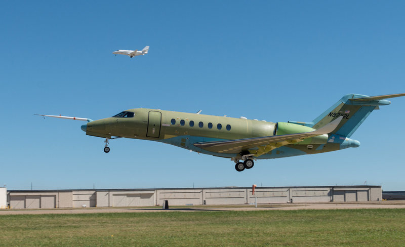 Probably my last airplane program. First flight of the Citation Model 700 carrying our hydraulic system.  It&@POUND@39@SEMICOLON@s been a good 20 years, but enough is enough.