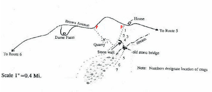 Map to The Quarry.