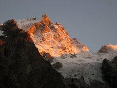 Rock Climbing Photo: Sunset on La Meije from La Grave