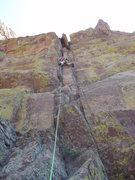 Rock Climbing Photo: Mid pitch, Jay Eggleston.
