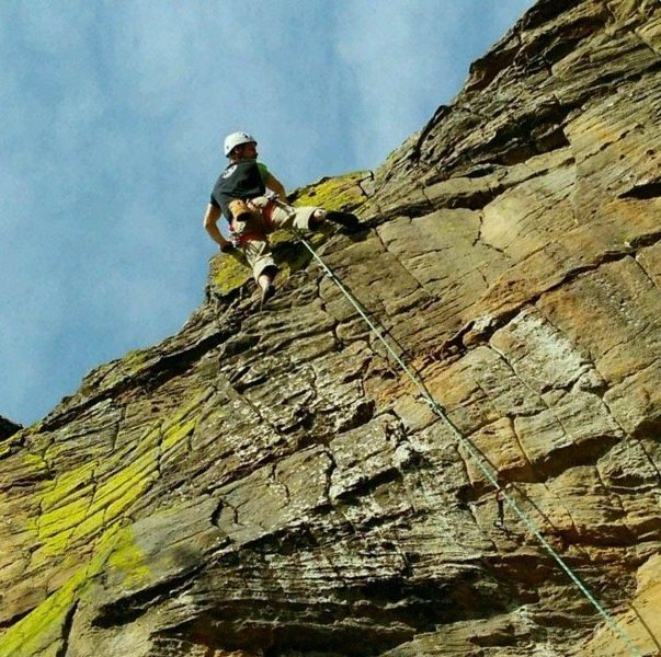 Rock Climbing Photo: Topping out...