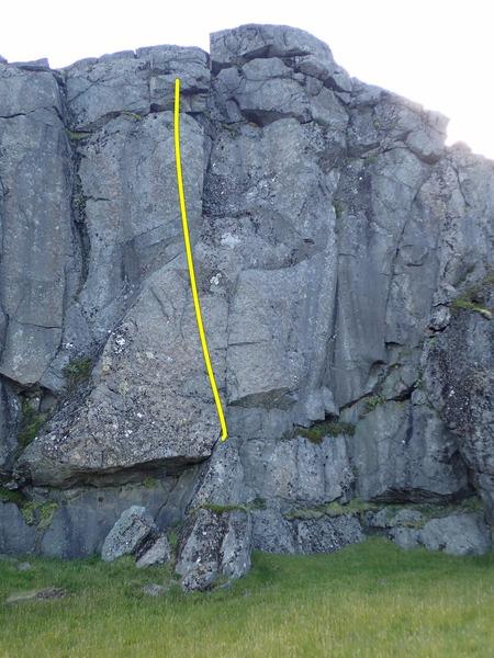 Rock Climbing Photo: Ölkelduháls