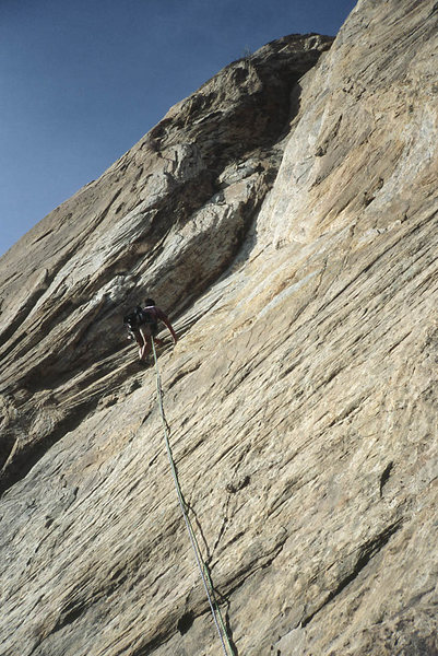 Rock Climbing Photo: Ralph Burns, pitch 1
