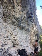Rock Climbing Photo: Local PR crusher Jorge Lassus on the first onsight...