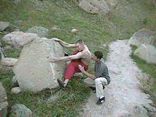Bouldering.