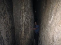 Rock Climbing Photo: A classic scene in the inner passage, just after t...