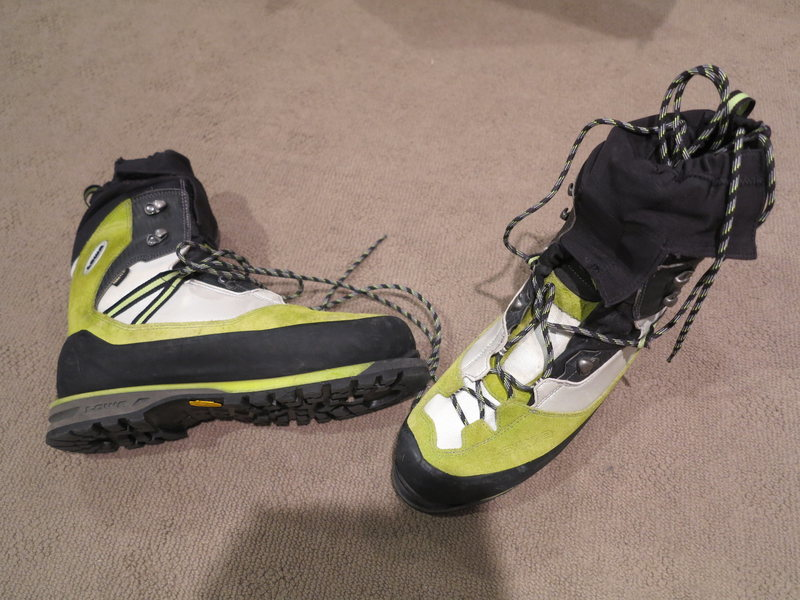 LOWA Vertical 44.4 or US 11 stiff warm Boot for Ice or Mountain Full Toe Welts so crampon compatible Sold to Burt Pending Payment