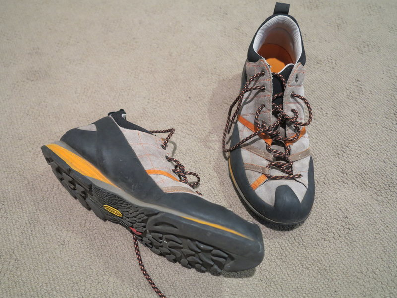 Scarpa Approach Shoes Size 44  US 10.5  Great condition As much as I love this shoe and want to use it it just doesn't fit my foot  $40