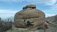Rock Climbing Photo: Frog face traverse. Good hands bad feet. Better if...