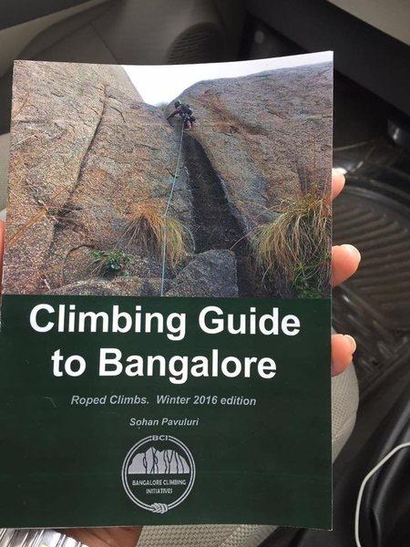 Bangalore area climbing guidebook, courtesy Bangalore Climbing Initiatives