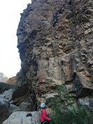 Rock Climbing Photo: Left most route on Shupluy Zone 1