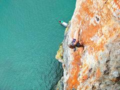 Rock Climbing Photo: Pitch 2 of Orange Chandeliers on Ao Nang Tower