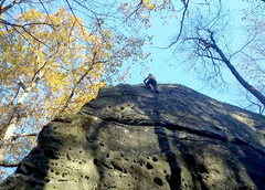 Rock Climbing Photo: Rope soloing in the fall.