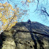 Rope soloing in the fall.